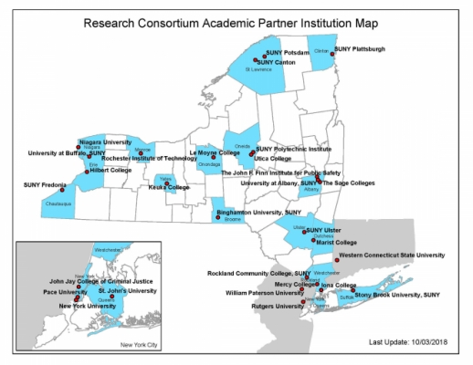 on map of colleges in new york
